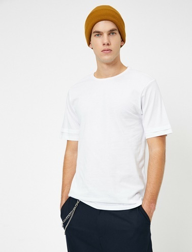 Koton Bisiklet Yaka T-Shirt Beyaz